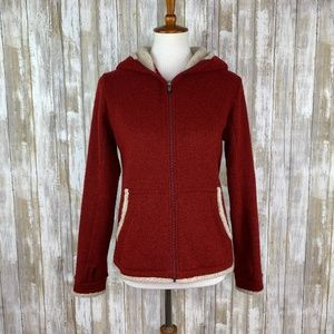 "Kuhl ""Alfpaca"" Red Hooded Fleece Jacket Sz Small"